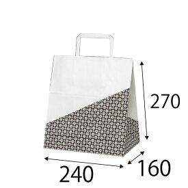 ラッピーバッグ NO.11 花林 50枚 巾220×マチ160×高さ270mm 【手提げ袋 手提げ紙袋 紙袋 手提げ マチ広 和風】