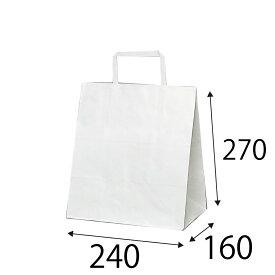 【ケース販売】ラッピーバッグ NO.11 晒無地 300枚 巾240×マチ160×高さ270mm【手提げ袋 手提げ紙袋 紙袋 手提げ マチ広 白無地】