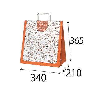 【ケース販売】ラッピーバッグ NO.7 デザート 150枚 巾340×マチ210×高さ365mm【手提げ袋 手提げ紙袋 紙袋 手提げ マチ広 洋柄 洋風】