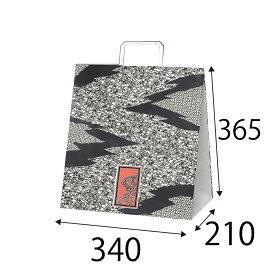 【ケース販売】ラッピーバッグ NO.7 小紋 150枚 巾340×マチ210×高さ365mm【業務用 紙袋 マチ広 手提げ袋 手提げ紙袋 手提げ 和風】
