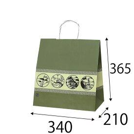 【ケース販売】ラッピーバッグ NO.7 利休好み 150枚 巾340×マチ210×高さ365mm【手提げ袋 手提げ紙袋 紙袋 手提げ マチ広 和風】