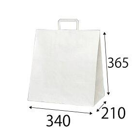 【ケース販売】ラッピーバッグ NO.7 晒無地 150枚 巾320×マチ210×高さ365mm【業務用 手提げ袋 手提げ紙袋 紙袋 手提げ マチ広 白無地】