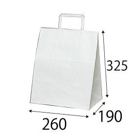 【ケース販売】ラッピーバッグ NO.8 晒無地 300枚 巾260×マチ190×高さ325mm【業務用 手提げ袋 手提げ紙袋 紙袋 手提げ マチ広 白無地】