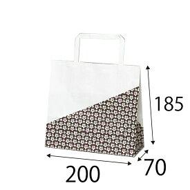 【ケース販売】ラッピーバッグ NO.9 花林 400枚 巾200×マチ70×高さ185mm【紙袋 小 手提げ 手提げ袋 手提げ紙袋 小さい 和風】
