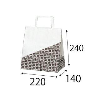 ラッピーバッグ NO.10 花林 50枚 巾200×マチ140×高さ240mm 【業務用 手提げ袋 手提げ紙袋 紙袋 手提げ マチ広 和風】