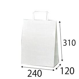 【ケース販売】ラッピーバッグ S−1 晒無地 300枚 巾240×マチ120×高さ310mm【手提げ袋 手提げ紙袋 紙袋 手提げ 白無地】