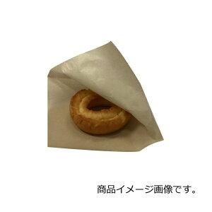 バーガー袋 NO.15 未晒無地 100枚 巾150×長さ152mm【茶 フード包材 業務用 ドーナツ袋 メロンパン袋】