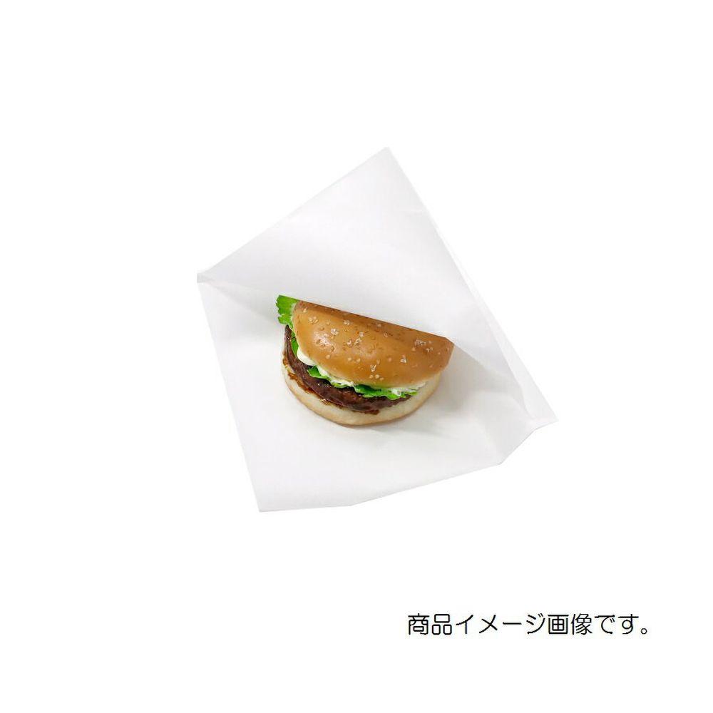 バーガー袋 NO.18 無地 100枚 巾180×長さ182mm【白 肉まん袋 フード包材 業務用 ドーナツ袋 メロンパン袋 ハンバーガー袋、カレーパン袋 パン袋】