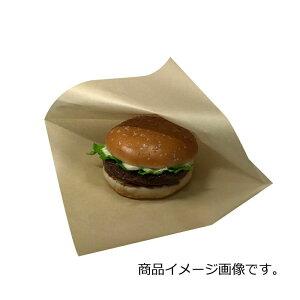 【ケース販売】バーガー袋 NO.20 未晒無地 3000枚 巾200×長さ202mm【茶 フード包材 業務用 ドーナツ袋 メロンパン袋 ハンバーガー袋、カレーパン袋 パン袋】