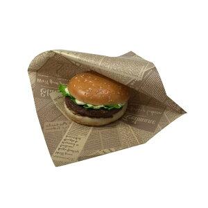【ケース販売】バーガー袋 NO.20 未晒アーティクル 3000枚 巾200×長さ202mm【茶 フード包材 業務用 メロンパン袋 ハンバーガー袋、カレーパン袋 パン袋】