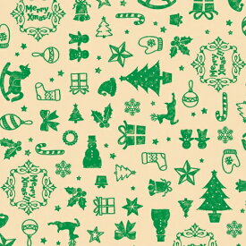 クリスマス包装紙 アコール緑 半才判 50枚【業務用 ギフト ラッピング ラッピングペーパー】