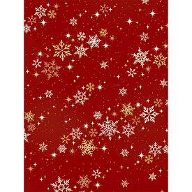 クリスマス包装紙 10枚ロール ベリンダスノー 半才判【ギフト ラッピング ラッピングペーパー】