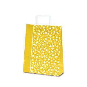 【ケース販売】紙袋 T-Z 花小町(からし) 400枚 サイズ 220×120×250mm【業務用 手提げ ラッピング】