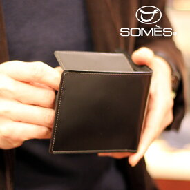f7bee1bf4b0b 【レターパックプラス送料無料】ソメスサドル コードバン二つ折り財布 ハノーバー ブラック