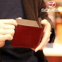 【レターパックプラス送料無料】ソメスサドル コードバン二つ折り財布 ハノーバー ダークブラウン