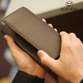 761e846c0b23 【レターパックプラス送料無料】ソメスサドル 本革長財布 フェル チョコレートブラウン