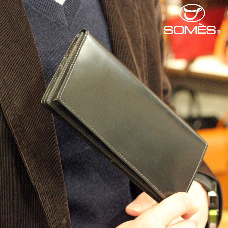 【レターパックプラス送料無料】ソメスサドル コードバン長財布 ハノーバー ブラック