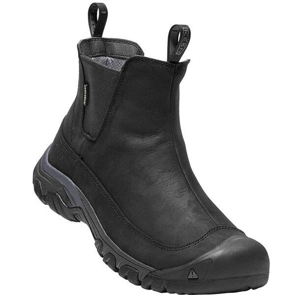 【今なら10%OFFクーポンが利用できます】[メンズ] KEEN Anchorage Boot3 WP キーン アンカレッジブーツ3 防水 スノー ブーツ Black/Raven BK