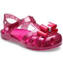 【14.0-18.5cm】[キッズ] crocs Isabella Bow Sandal クロックス イザベラ ボウ サンダル Candy Pink 205382