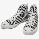 Lady s  CONVERSE Converse sneakers all-stars MX horizontal stripe HI ALL  STAR MXBORDER higher frequency elimination men gap Dis shoes white black  monotone d6a89bbfe