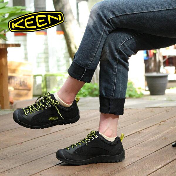 【22.5cmの方対応】【40%OFF】[レディース] KEEN Jasper Rocks キーン ジャスパーロックス アウトドア スニーカー Black/Neon Yellow トレッキングシューズ