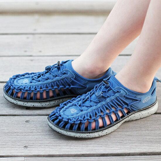 [小孩]KEEN基恩UNEEK O2 1016666獨特的O二藍色涼鞋 satoshoes
