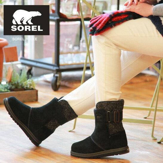 【SALE 20%OFF】【さらに今なら10%OFFクーポンが利用可能です】[レディース] SOREL ソレル RYLEE ライリー Black ブラック ブーツ NL2370 Discount price