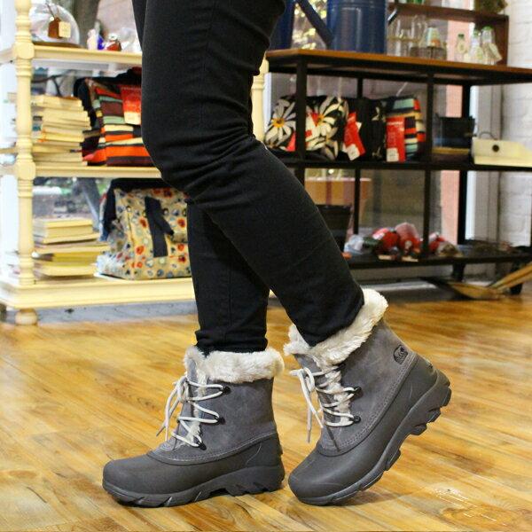 【ワンサイズ 25.0cm】【今なら10%OFFクーポンが利用可能です】[レディース] ソレル SOREL Snow Angel Lace レディース スノーエンジェルレース チャコール ブーツ