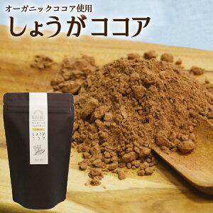 オーガニックココア使用 生姜ココア 100g 送料無料 パウダータイプ しょうが 温活 ショウガオール ポリフェノール