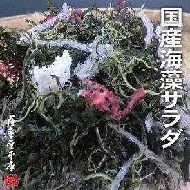 国産海藻サラダ7種ミックス 100g (国産原料100%・乾燥タイプ) 〜くきわかめ・わかめ・昆布・糸寒天・とさか・ふのり・まふのり〜