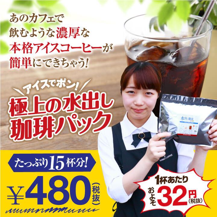 【澤井珈琲】アイスでポン!コーヒー専門店の極上の水出し珈琲パック 5袋入り(コーヒーパック/アイスコーヒー/水出しコーヒー/コールドブリュー)