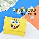 スポンジ・ボブ SpongeBob ミニウォレット イエロー 合成皮革 ウォレット 財布 カートゥーンネットワーク 二つ折り財…