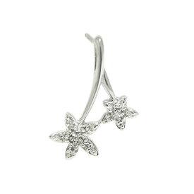 プラチナPT900 ダイヤ ラペルピン ピンバッジ ピンブローチ お花 フラワー さくらんぼ ブローチ 誕生石 ユニセックスデザイン