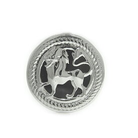 プラチナPT900 オニキス ラペルピン ピンバッジ ライオン 獅子 ピンブローチ ブローチ ユニセックスデザイン