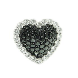 K18 ホワイト/ピンク/イエローゴールド ダイヤ ブラックダイヤ ラペルピン ピンバッジ ピンブローチ ブローチ ハート モチーフ 誕生石
