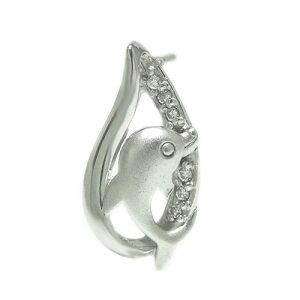 K18 ダイヤ ラペルピン ピンバッジ ピンブローチ イルカ ブローチ ホワイト/ピンク/イエローゴールド 誕生石 ユニセックスデザイン