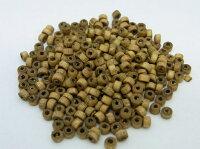 円筒型ウッドビーズ(約100個)アッシュブラウン/直径:約2.8mm〜約3.5mm/高さ:約2.8mm〜約3.5mm