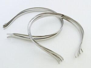 【ポイント5倍】 使い方色々!ハンドメイド用カチューシャ10個セット 銀・シルバー うさ耳、ねこ耳、リボン付きなど手作りカチューシャ用に! 無地