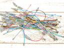 【ワイヤーキーリング6色set(約30個)】ネジ式 キーチェーン キーホルダーパーツ 金具 クラフトパーツ 手芸材料 雑貨 部品 副資材