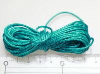 【ロー引き紐/径約2mm・約5m】クリームグリーン/ポリエステル/カラーワックスコード/ロウヒモ/丸紐/ロープ/アクセサリーパーツ/手芸材料