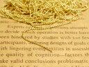 【ボールチェーン 約5mx1本】約1.2mm玉 ゴールド 玉鎖 副資材 基本金具 手作り雑貨 アクセサリー パーツ 手芸材料 素材 金属 小物