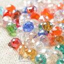 高品質ガラスビーズ【ボタンカット(約4mm)1連(約145個前後)カラフルミックスAB】ビーズパーツ 1穴 アクセサリー材料 …