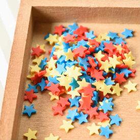 【レジン パーツ 封入 素材】ポリマークレイ チップ 星 約5x5mm ビビットカラー 約3g star ネイル スター ほし アクセサリーパーツ デコ