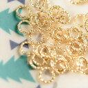【国内24KGPメッキ製デザイン丸カン(約5mm)約50個】ゴールド 飾り丸カン フープ メタルパーツ ビーズ手芸 ネイル レジン材料 チェーン…