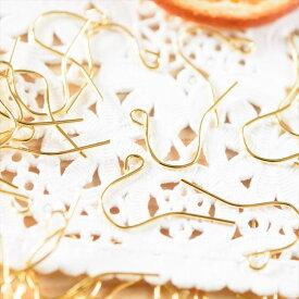 【ポイント5倍】ピアスパーツ50ペア 約100個 ピアスフック ゴールド 20mm ニッケルフリー アレルギー対応 フック式 シンプル 大量 約2cm ピアス金具 アクセサリーパーツ ハンドメイド ピアス パーツ さや工房 手作り