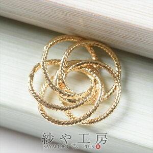チャーム 5つのデザインリングのつなぎパーツ ゴールド 17.7mm 1個 アクセサリーチャーム ピアス イヤリング ネックレス 約1.8cm アクセサリーパーツ パーツ 材料 手芸材料 ハンドメイド資材 高
