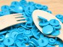 プラスチック スナップボタン(T-5)【30組(12mm ブルー)】プラスナップ 手芸材料 プラスチック製 ボタン 取り付け方 かわいい