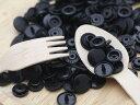 プラスチック スナップボタン(T-5)【30組(12mm 黒)】プラスナップ 手芸材料 プラスチック製 ボタン 取り付け方 かわ…