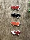 作善堂 金魚(小)/ 赤、黒、橙、赤白 /色をお選びください/向きはおまかせください/美濃焼 日本製 タイル クラフトタ…