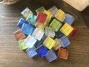 ガラスタイル 15ミリ角 タイルクラフト用 カラフルミックス【craft-sunny】パーツ/材料/DIY/アクセサリー